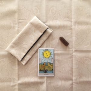 étui tapis pochon tarot