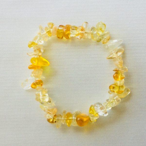 bracelet fin citrine