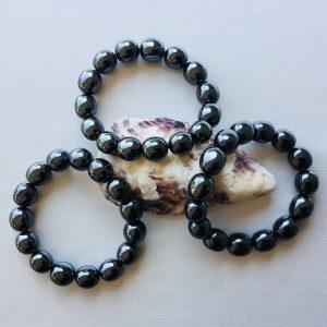 bracelet pierres roulées hématite