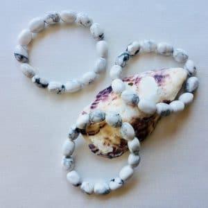bracelet pierres roulees howlite magnesite