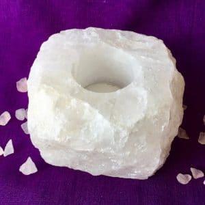 bougeoir quartz blanc cristal de roche