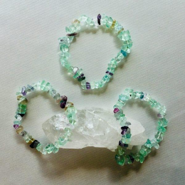 bracelet fin fluorite