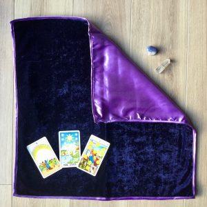 tapis tirage violet