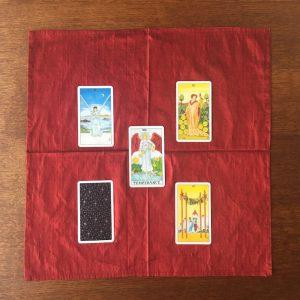 tapis tirage soie rouge