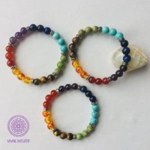 Bracelet Perles des Sept Chakras