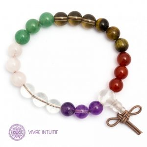 power bracelet multi pierres