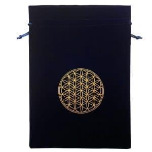 pochette velours XL fleur de vie