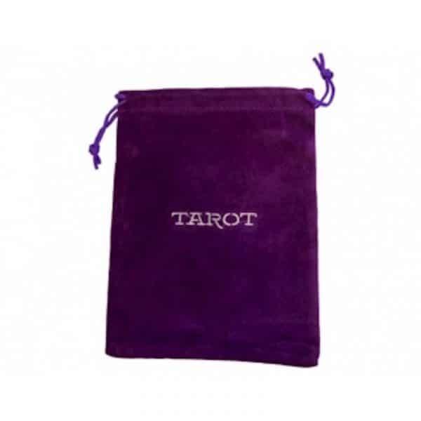 pochon velours violet tarot